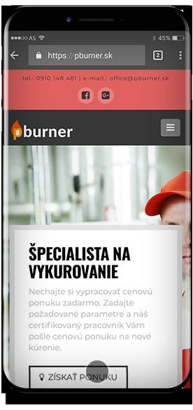 Pburner - Oliver Polák web design